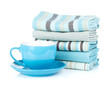 Kitchen Towels And Coffee Cup