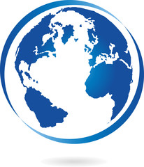 Erde, Globus, Weltkugel, Logo, Zeichen