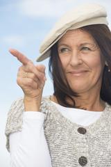 Portrait confident attractive mature woman