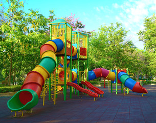 Play equipment in the park