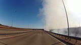 smoke over the road