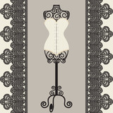 mannequine and corset - 52064397