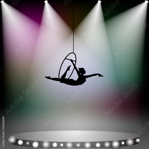 acrobat woman on circus