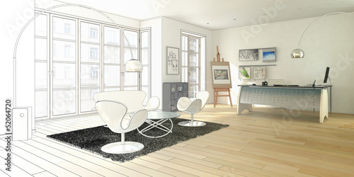 Modern Office Planing (drawing) by arsdigital, Royalty free stock