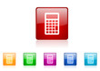 calculator vector glossy web icon set