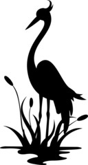 beauty heron silhouette