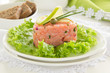 Tartar of salmon with lime.