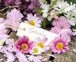 Gutschein mit Frühlingsblüten