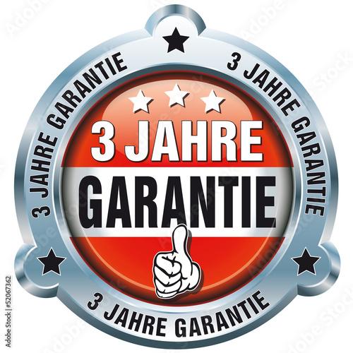 Button - 3 Jahre Garantie