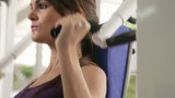 Workout and wellness in fitness club, young woman exercising