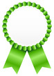 Green Award Badge Green Ribbon