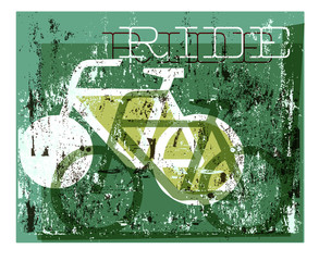 Grunge cycling graphic