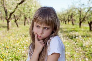 Cute sad girl