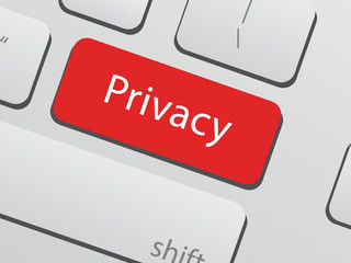 Privacy policy concepts - Privacy key on keyboard