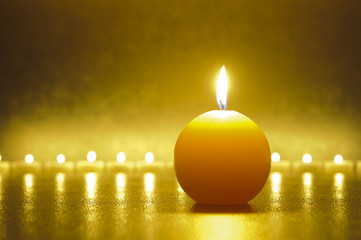 Zen und Meditation mit Kerzen