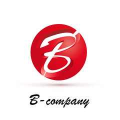 Vector Logo spherical letter B 3d