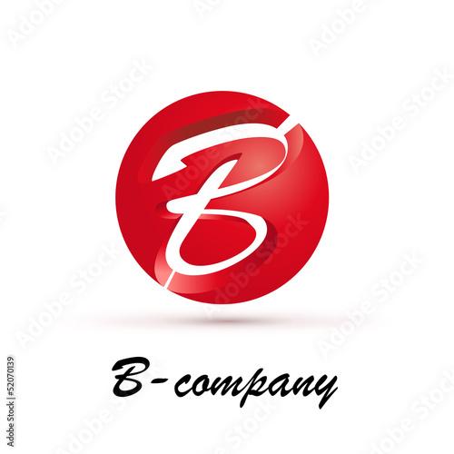 Vector Logo spherical letter B 3d
