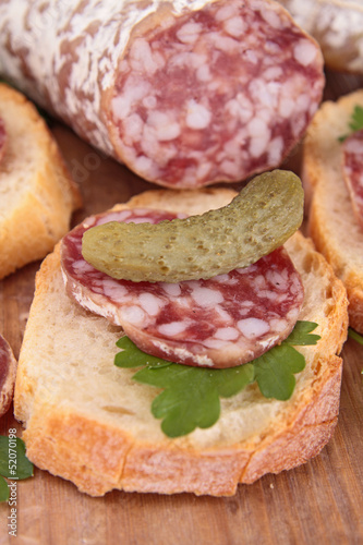 bread with sausage