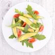 salad with avocado and tomato