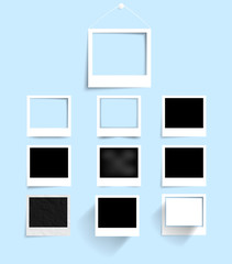 Vector set photo frame banner. Vector illustration.