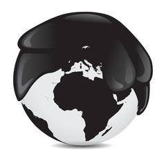 Erde mit Öl bedeckt vektor