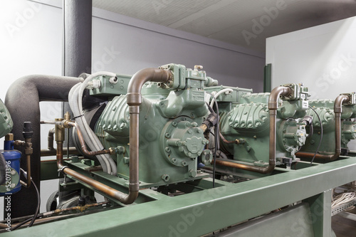 Leinwandbild Motiv Compressor machinery