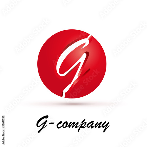 Vector Logo spherical letter G 3d