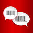 Bar-code labels speech bubbles