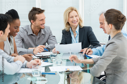 Happy Business People In Meeting