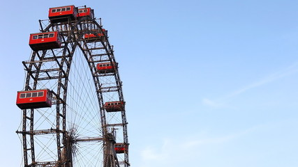Famous and historic Ferris wheel of Vienna