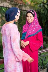 Fashionable muslim girls