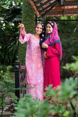 Happy Arabic women
