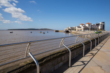 Weston-super-Mare seafront Somerset England UK