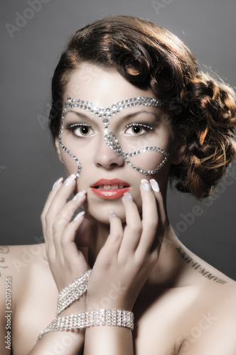 Girl with diamond make up