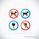 Prohibited Icons Illustration, Sign, Symbol, Button, Badge