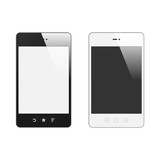Realistic Smart Phone With Blank Screen. Set. With Reflection. I