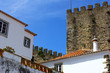 The medieval town of Obidos at Portugal