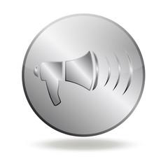 icône communication rond silver