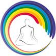 Yoga - Lotussitz - Chakra - Logo