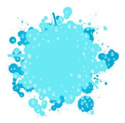 Farbklecks Wasser blau