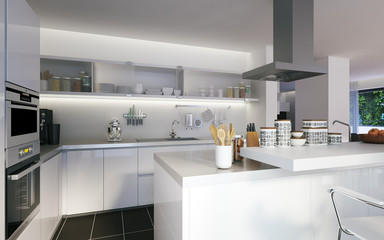luxusküche in Penthouse - luxury kitchen