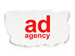 Marketing concept: Ad Agency on Paper background