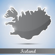 shiny icon in form of Iceland