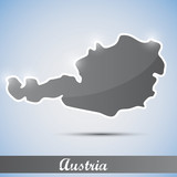 shiny icon in form of Austria