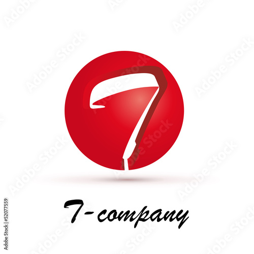 Vector Logo spherical letter T 3d