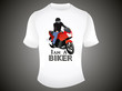 abstract i am a biker tshirt template