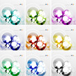Colorful circle design templates