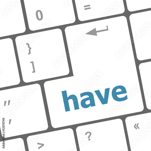 have word on computer pc keyboard key