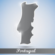 shiny icon in form of Portugal