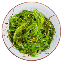 top view of chuka salad - seaweed salad
